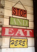 Stop and eat here